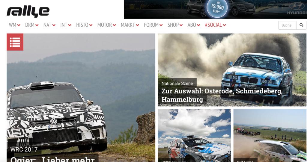 Rallyemagazin Titelseite