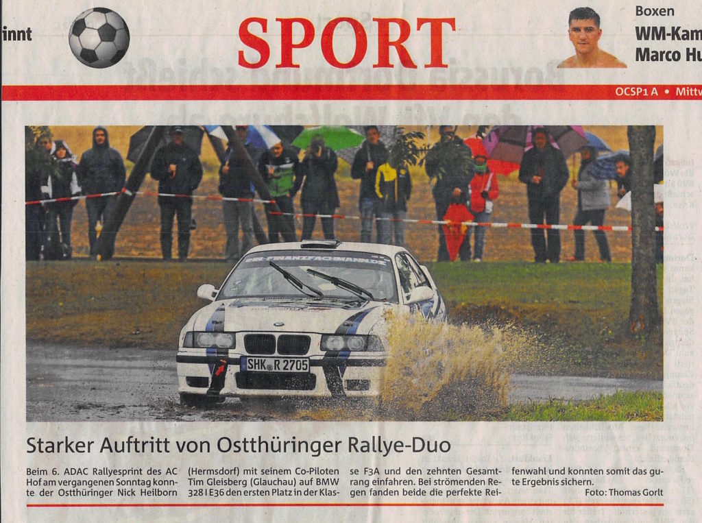 OTZ-2016-09-21 Regenschlacht beim Rallyesprint Hof
