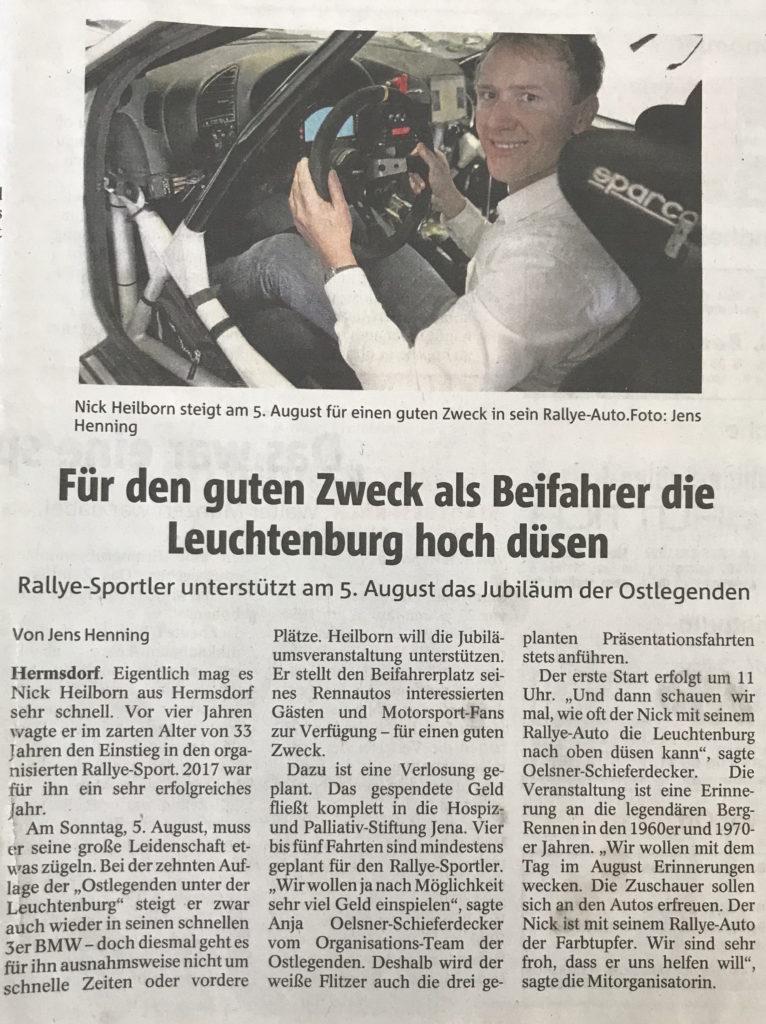 OTZ 2018-07-04 Leuchtenburg-Rennen Heilborn