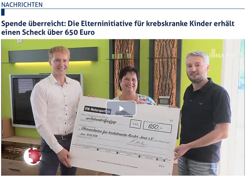 Ostlegenden Leuchtenburg Bergrennen Kahla 2018 - Nick Heilborn BMW M3, Rallye-Taxi, Jena-TV, Spendenübergabe EKK Jena